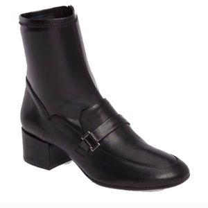 Charles David Black mid loader ankle boots 8
